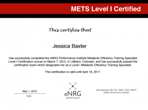 Baxter METS Level 1 Certification